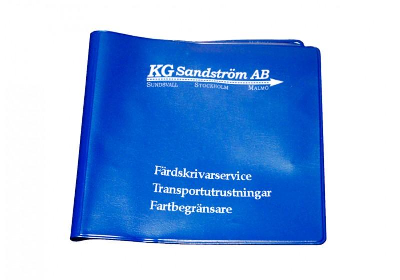 Plastficka Diagramblad, Blå